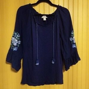 2/$16 Vintage America Blouse Size Small